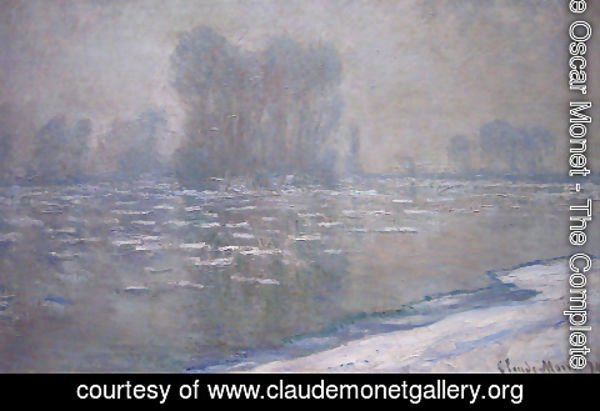 Claude Oscar Monet - Ice Floes  Misty Morning