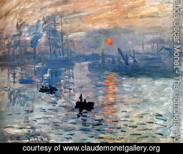 Claude Oscar Monet - Impression  Sunrise