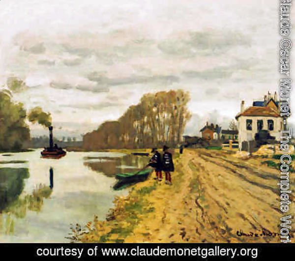 Claude Oscar Monet - Infantry Guards Wandering Along The River