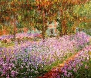Claude Oscar Monet - Irises In Monets Garden