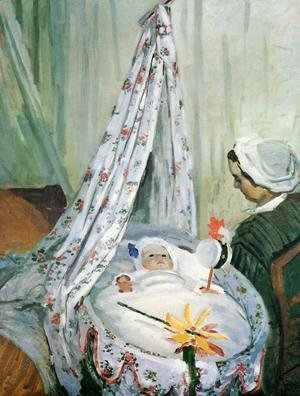 Claude Oscar Monet - Jean Monet In His Cradle