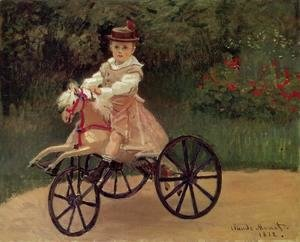 Claude Oscar Monet - Jean Monet On His Horse Tricycle