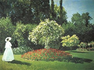 Claude Oscar Monet - Jeanne Marguerite Lecadre In The Garden