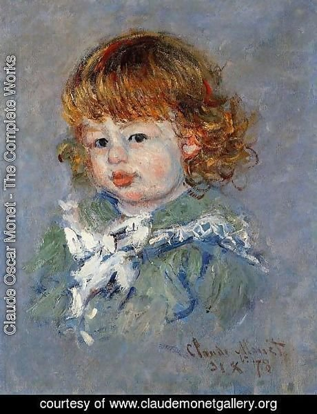 Claude Oscar Monet - Jean Pierre Hoschede  Called Bebe Jean