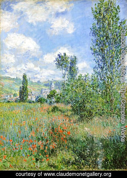 Claude Oscar Monet - Lane In The Poppy Fields  Ile Saint Martin