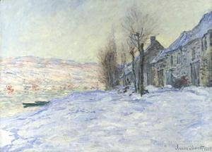 Claude Oscar Monet - Lavacourt  Sun And Snow