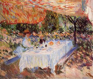 Claude Oscar Monet - Luncheon Under The Canopy