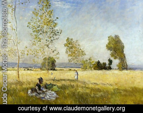 Claude Oscar Monet - Meadow At Bezons
