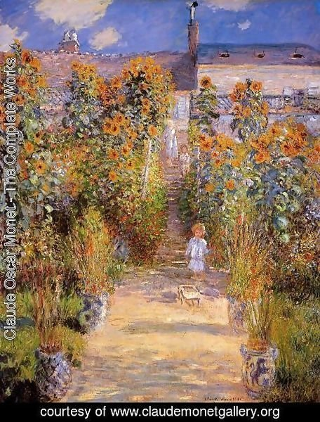 Claude Oscar Monet - Monets Garden At Vetheuil