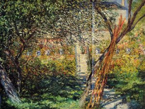 Claude Oscar Monet - Monets Garden At Vetheuil2