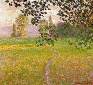 Claude Oscar Monet - Morning Landscape  Giverny Aka Landscape In The Morning