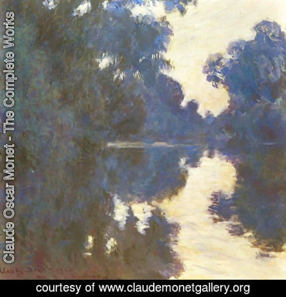 Claude Oscar Monet - Morning On The Seine4