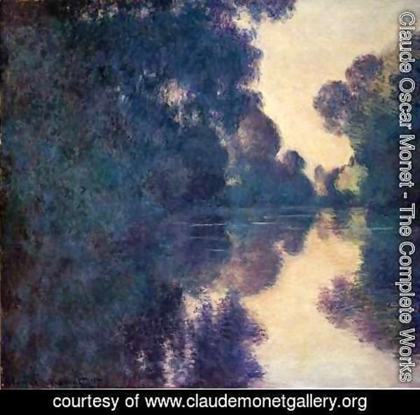 Claude Oscar Monet - Morning On The Seine  Clear Weather