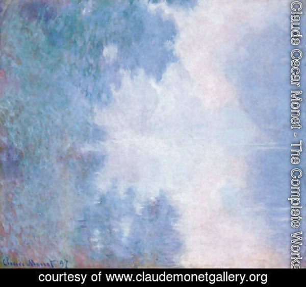 Claude Oscar Monet - Morning On The Seine  Mist