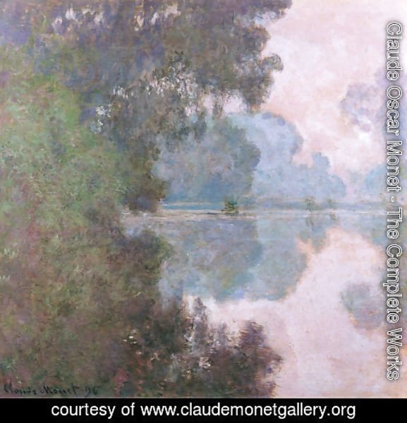 Claude Oscar Monet - Morning On The Seine  Near Giverny
