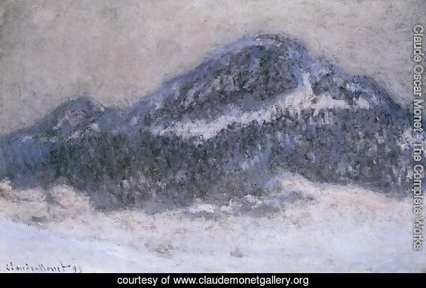 Mount Kolsaas In Misty Weather