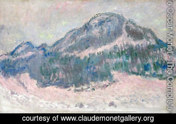 Claude Oscar Monet - Mount Kolsaas  Rose Reflection