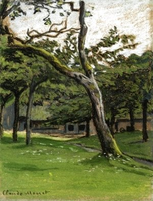 Claude Oscar Monet - Norman Farm Through The Trees
