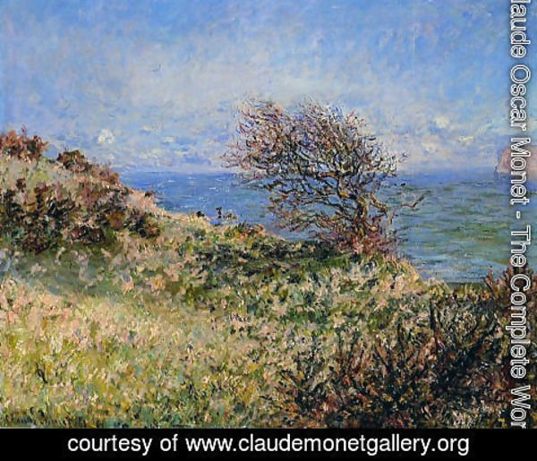 Claude Oscar Monet - On The Cliff At Fecamp
