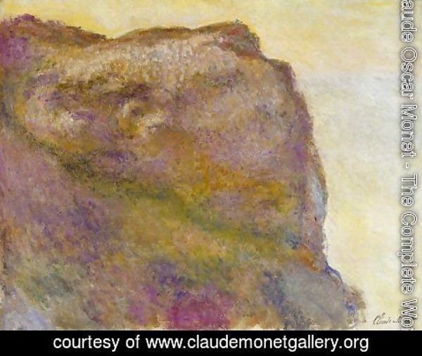 Claude Oscar Monet - On The Cliff At Petit Ailly