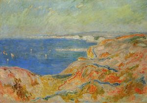 Claude Oscar Monet - On The Cliff Near Dieppe2