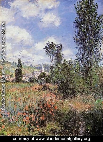 Claude Oscar Monet - Path In The Ile Saint Martin  Vetheuil Aka T