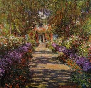 Claude Oscar Monet - Pathway In Monets Garden At Giverny