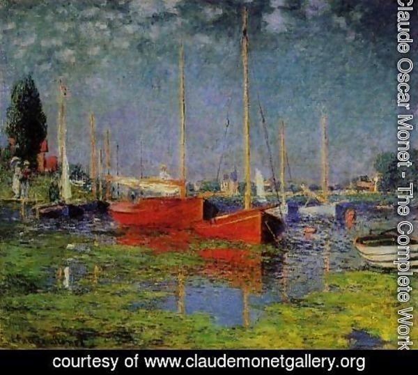 Claude Oscar Monet - Pleasure Boats At Argenteuil