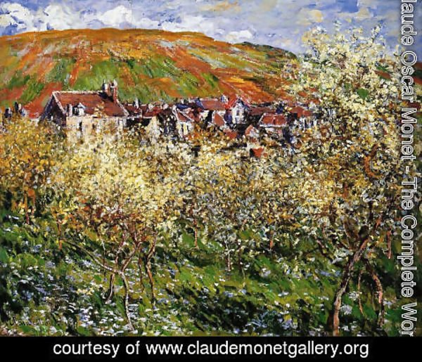 Claude Oscar Monet - Plum Trees In Blossom At Vetheuil