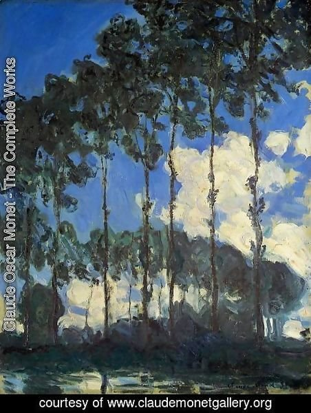 Claude Oscar Monet - Poplars On The Banks Of The Epte