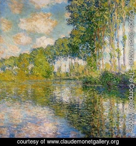 Claude Oscar Monet - Poplars On The Banks Of The River Epte