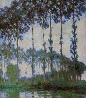 Claude Oscar Monet - Poplars On The Banks Of The River Epte  Overcast Weather
