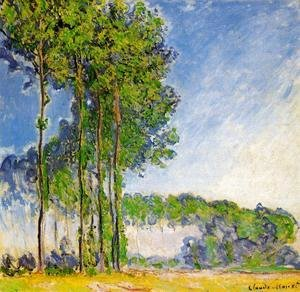 Claude Oscar Monet - Poplars  View From The Marsh