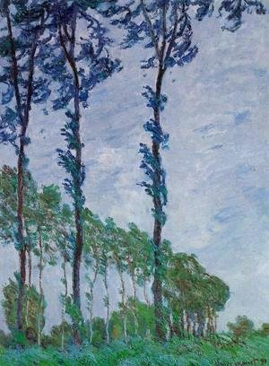 Claude Oscar Monet - Poplars  Wind Effect