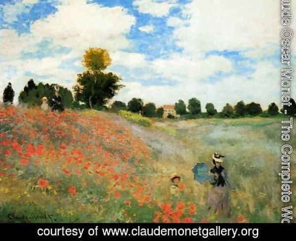 Claude Oscar Monet - Poppies At Argenteuil