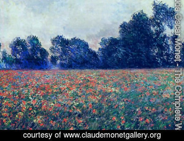 Claude Oscar Monet - Poppies At Giverny