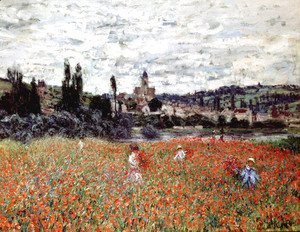 Claude Oscar Monet - Poppies Near Vetheuil