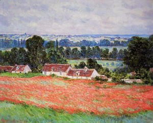Claude Oscar Monet - Poppy Field At Giverny