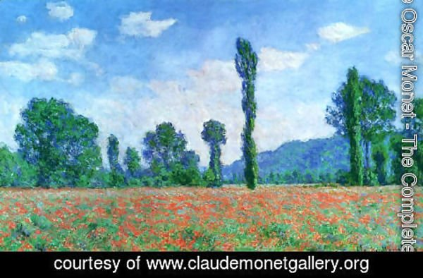 Claude Oscar Monet - Poppy Field In Giverny