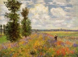 Claude Oscar Monet - Poppy Field  Argenteuil