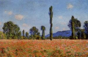 Claude Oscar Monet - Poppy Field  Giverny