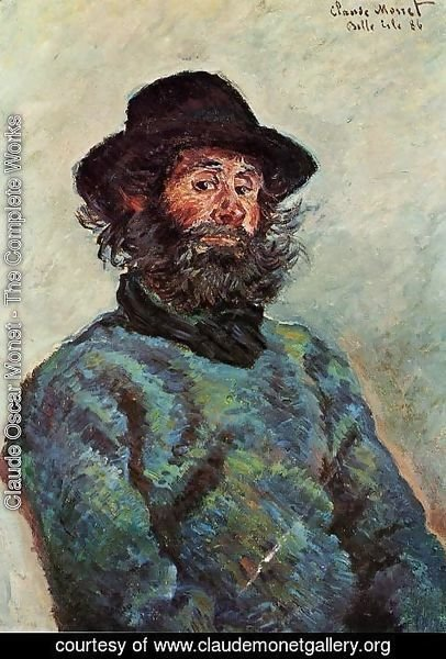 Claude Oscar Monet - Portrait Of Poly  Fisherman At Kervillaouen