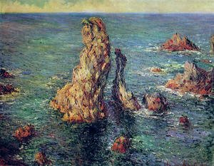Claude Oscar Monet - Pyramids At Port Coton