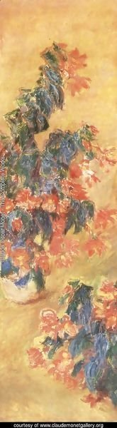 Claude Oscar Monet - Red Azalias In A Pot