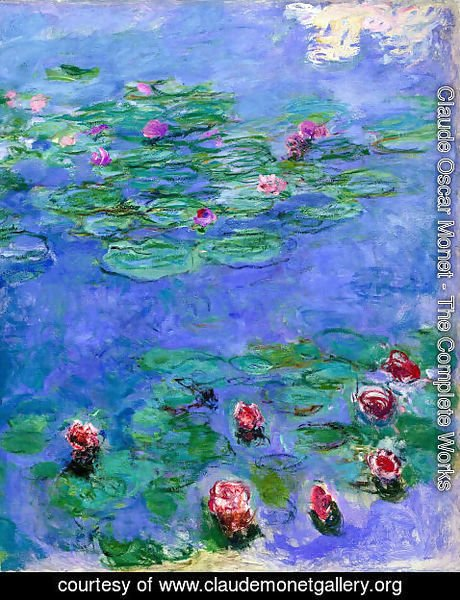 Claude Oscar Monet - Red Water Lilies