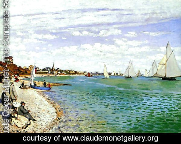 Claude Oscar Monet - Regatta At Sainte Adresse