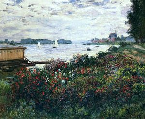 Claude Oscar Monet - Riverbank At Argenteuil