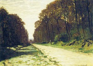 Claude Oscar Monet - Road In A Forest