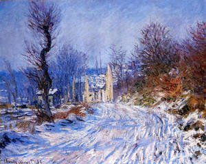 Claude Oscar Monet - Road To Giverny In Winter