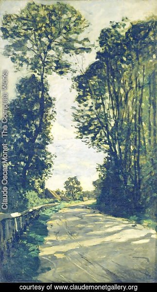 Claude Oscar Monet - Road To The Saint Simeon Farm